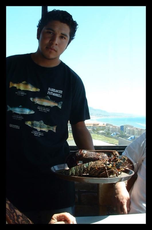 Cute waiter at Puerto Nuevo