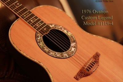 1976 Ovation Custom Legend Model 1119-4