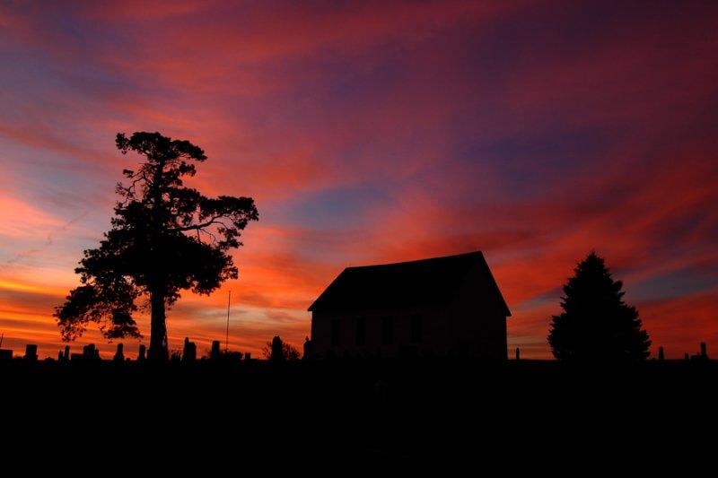 Fall Sunrise at the Old Brick Church
