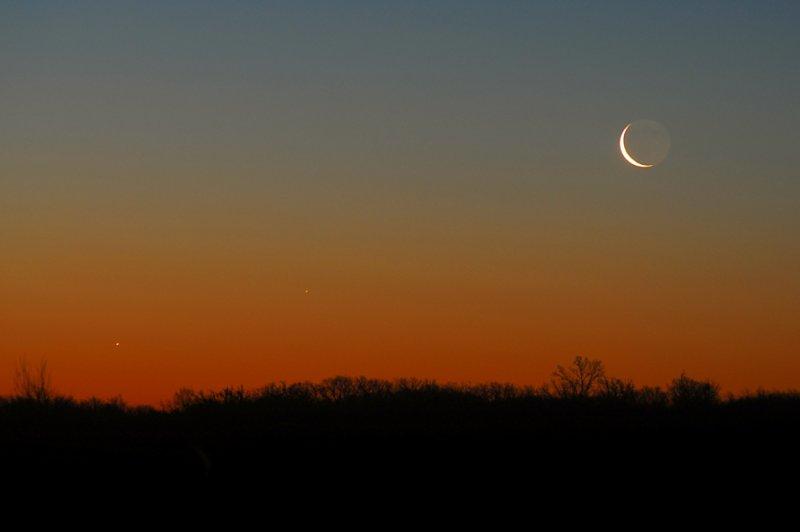 Jupiter, Mercury, and the Moon