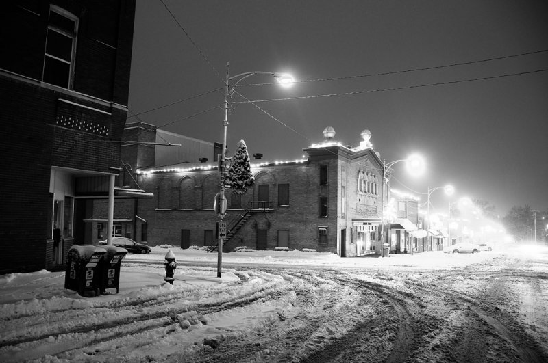 Winter Scene Downtown Albany