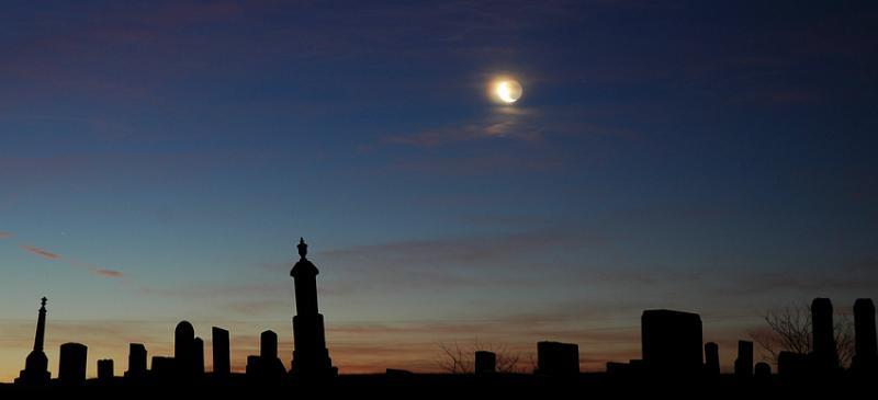 Moon Over Cemetery