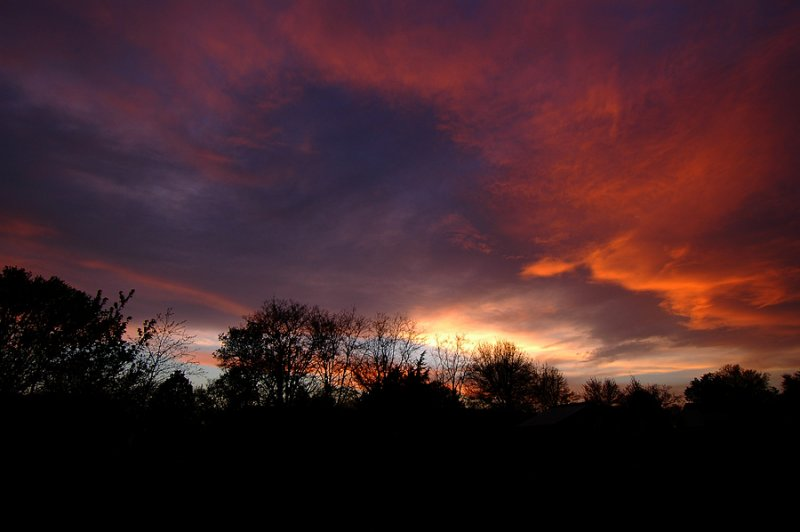 Vivid Sunset After Storm