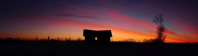 Sunrise with Barn