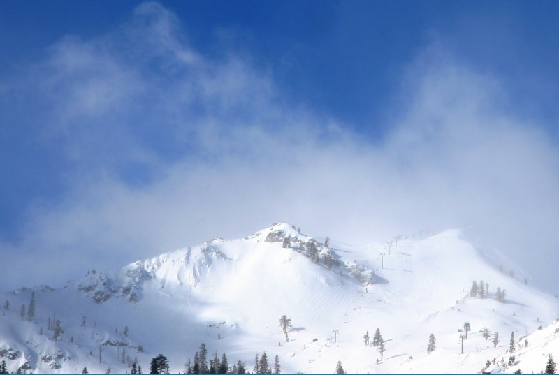 Squaw Valley In Clouds