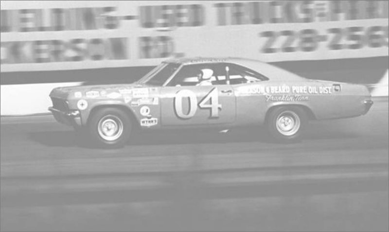 Driver Coo Coo Marlins first Cup car at Nashville.