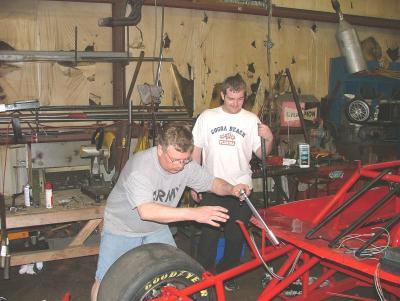 Tony Formosa Jr and Super Truck Driver David Brown