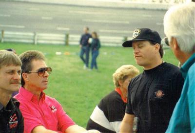 Darrell Waltrip, Track Champion Nicky Formosa, and Joe Carver at Nashville