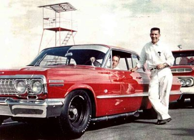 Rex White before the 1963 Daytona 500