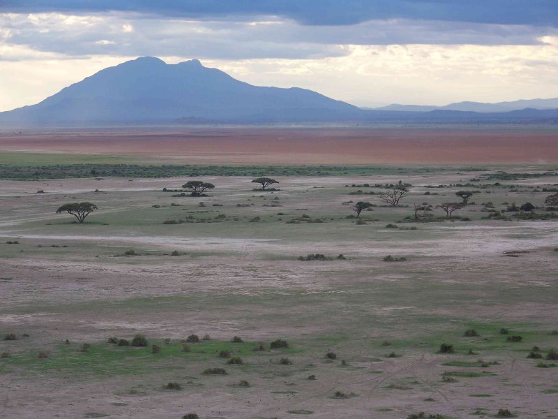 Red swath is Amboseli Lake (seasonal, hasnt been seen for a few years)-3042