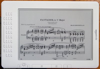 PDF Sheet music - rotated to landscape