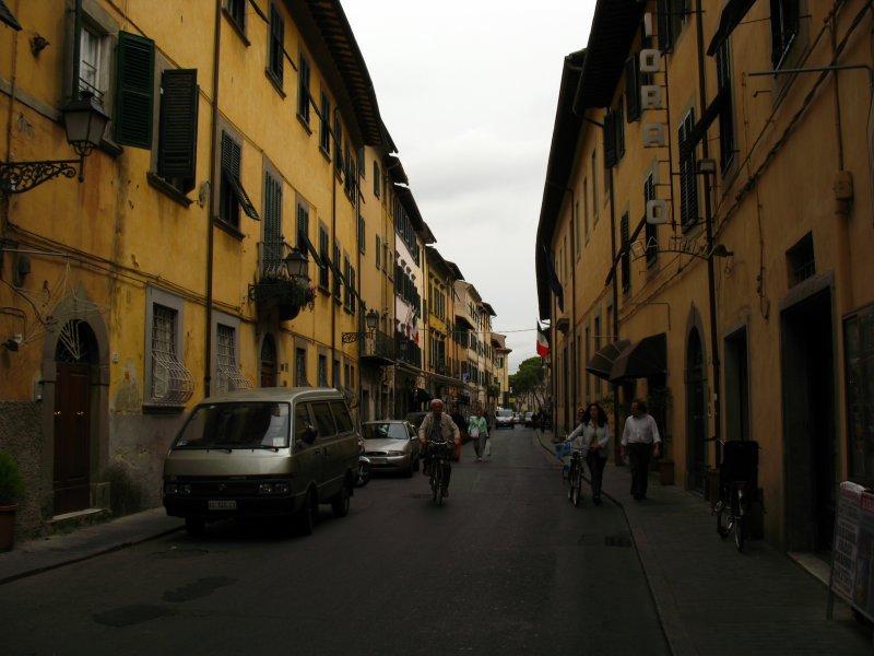 Medieval buildings along Via Carducci