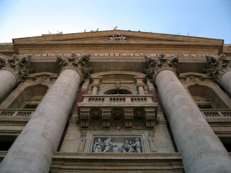 Front facade of St. Peters Basilica