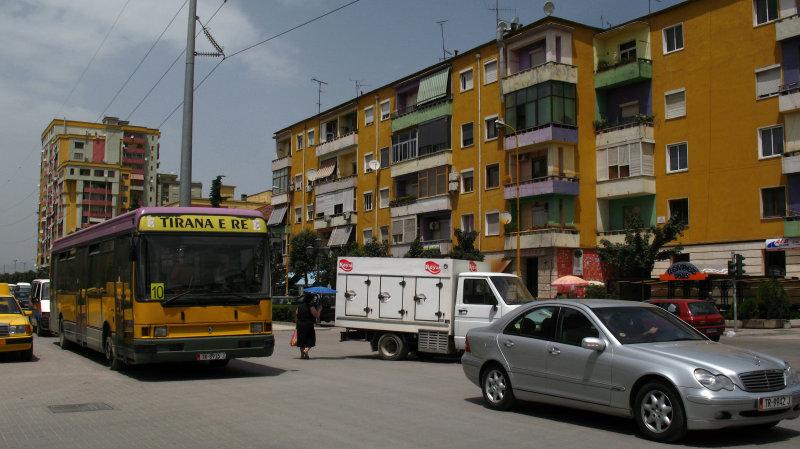 Tirana traffic on Blvd Zogu I