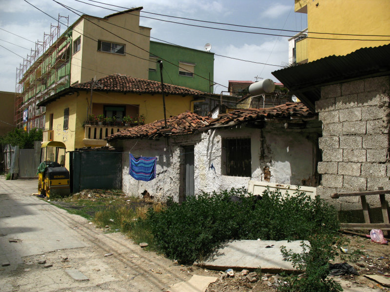 Decaying old house in a central backstreet