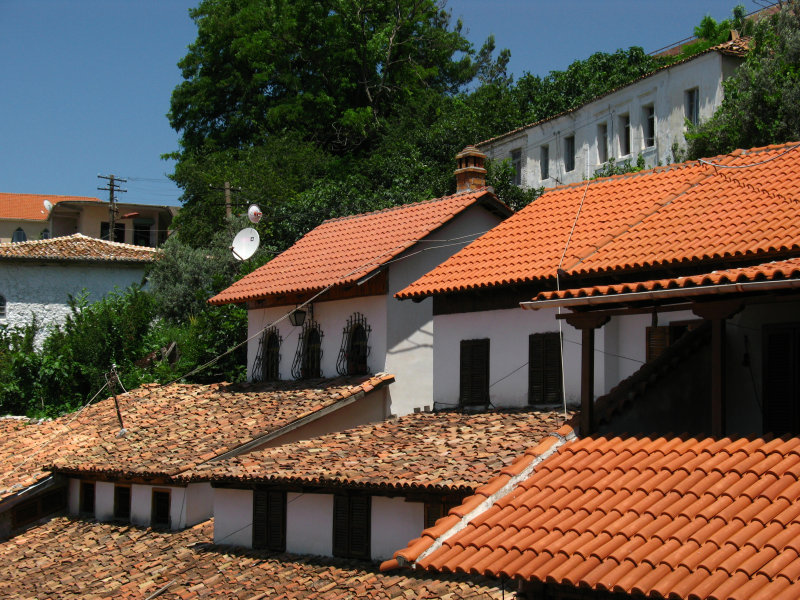 Old town roofs and windows