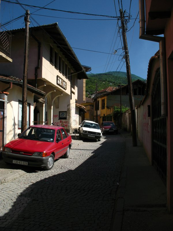Sidestreet of old houses