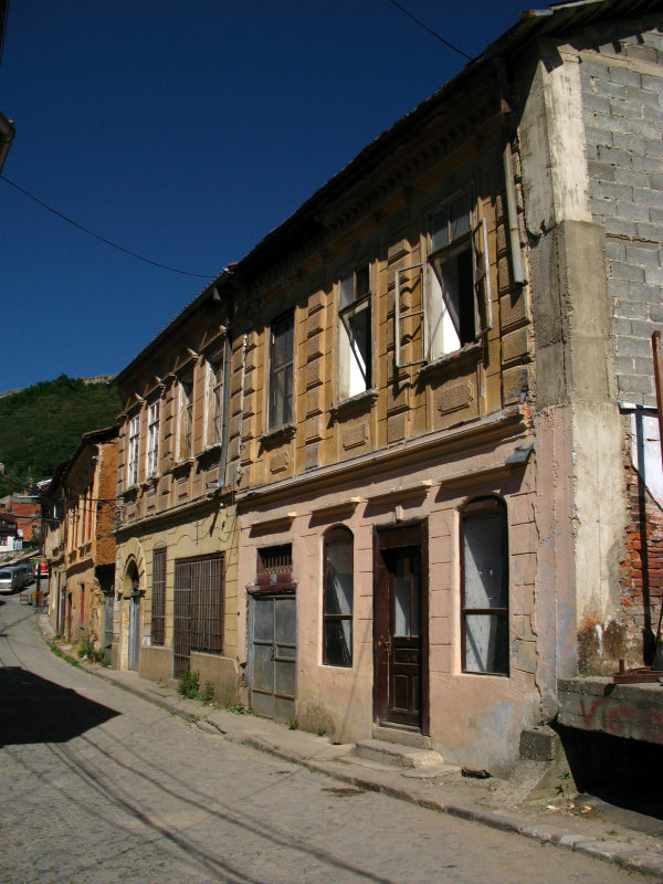 19th-century buildings on the edge of downtown