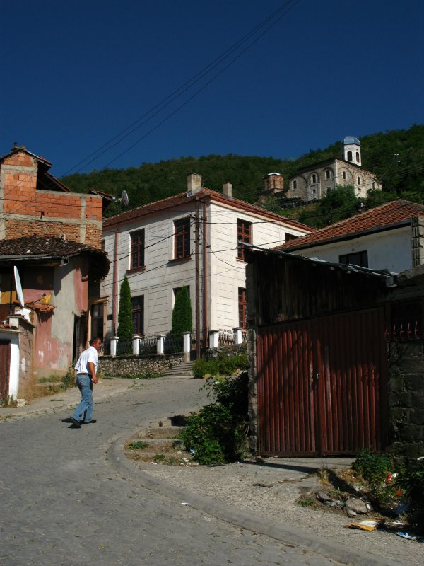 Walking up to the old Serbian quarter