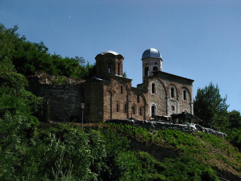Sveti Spas and nearby KFOR base