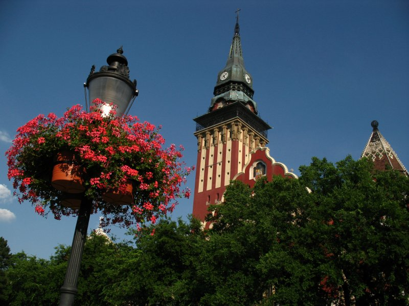 Subotica Town Hall and decorated lantern