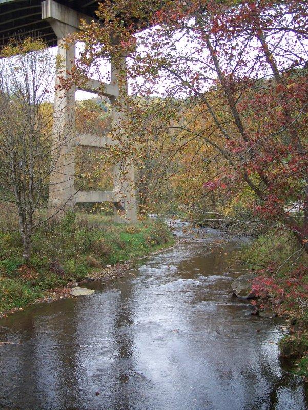 Creek and I-40 bridge