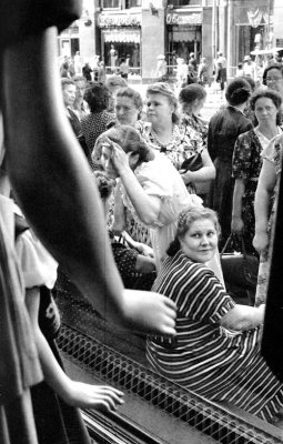 About store show-window, Moscow, USSR, 1954