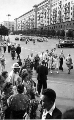 Gorky Street, Moscow, USSR, 1954