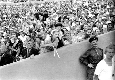 Sport Day at Dinamo stadium - spectators: Moscow, USSR, 1954