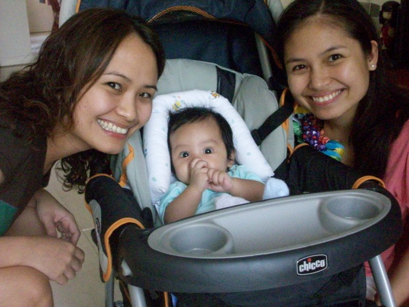 with Ninang Marie and Mommy