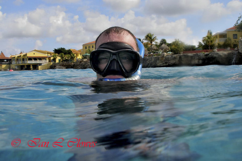 Me snorkelling off Buddy Dive