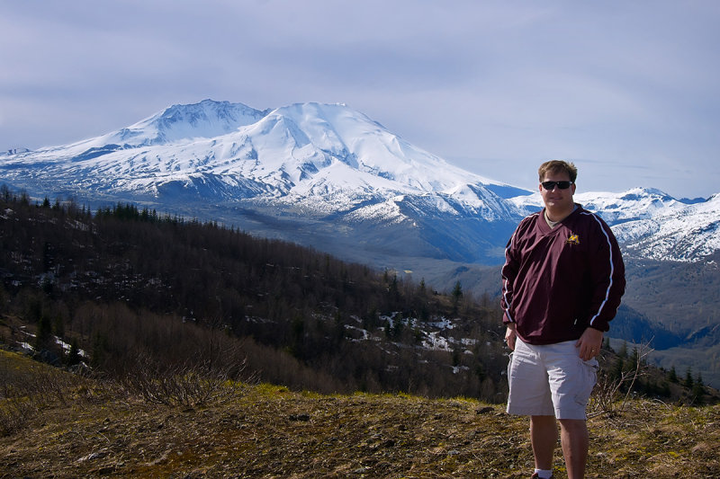 Mike at Mt. St. Helens