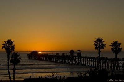 Oceanside Beach sunset