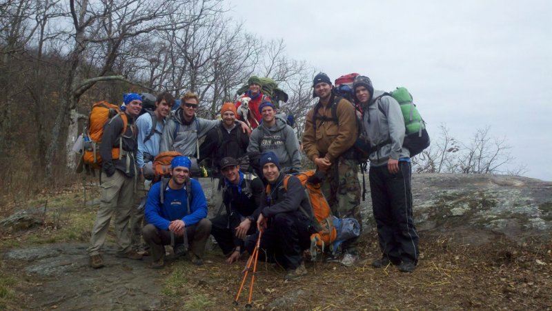 A group I hiked with for two days