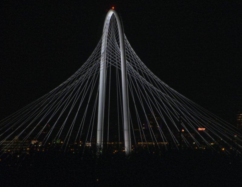 The Margaret Hunt Hill Bridge At Night