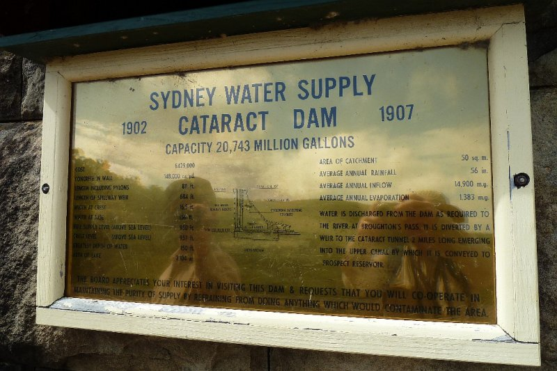 Cataract Dam - Details