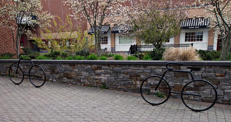 Bike rack sculptures