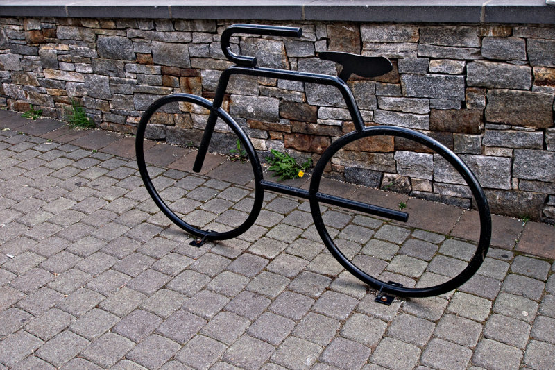 Bike rack sculpture