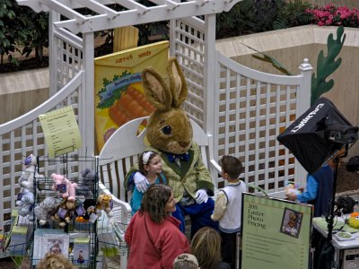 Easter weekend at the mall