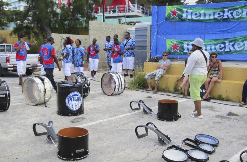 Local Drumband...taking a break