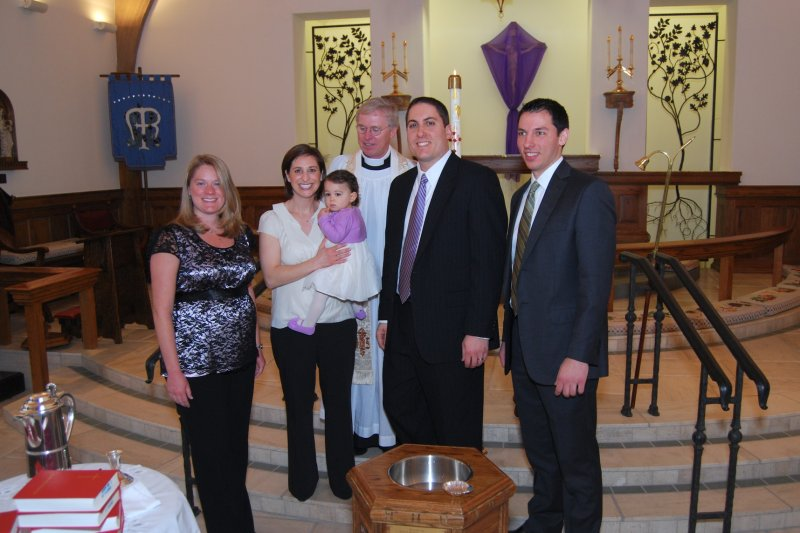 Godparents (Aunt Jackie and Uncle Paul) and Father Bright