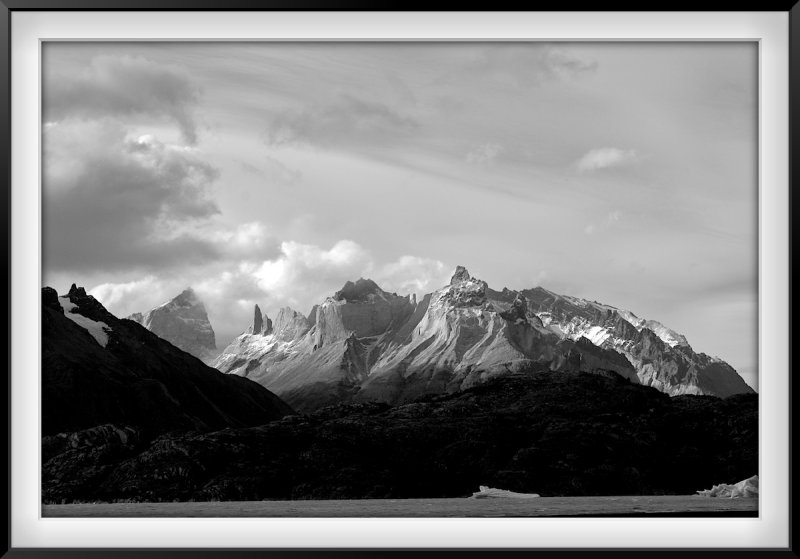 Patagonia: Ice on Grey Lake and Torres del Paine