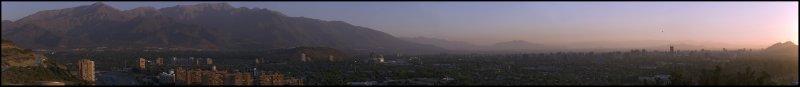 Panoramic view of Northeast Santiago