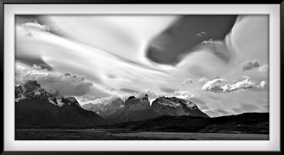 Patagonia: Lake Pehoe, Salto Grande (center left)