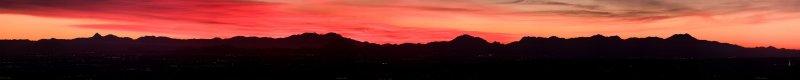Tucson Sunset Panorama