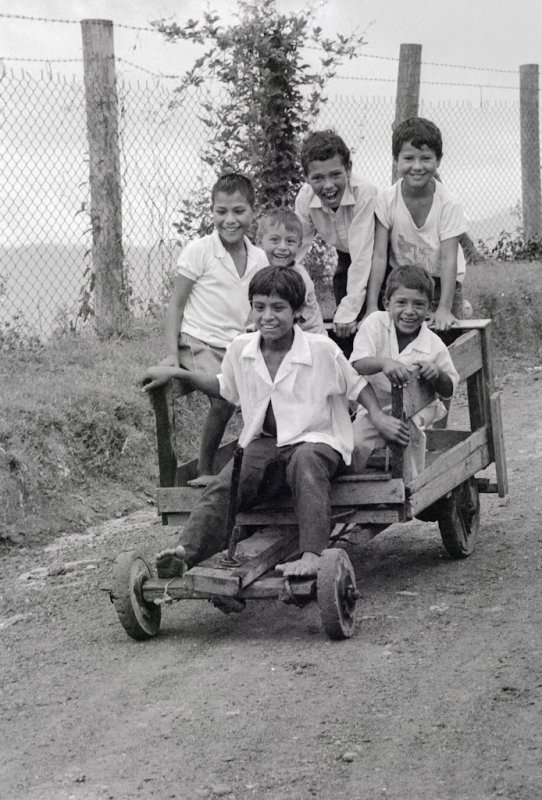 Boys on a Cart