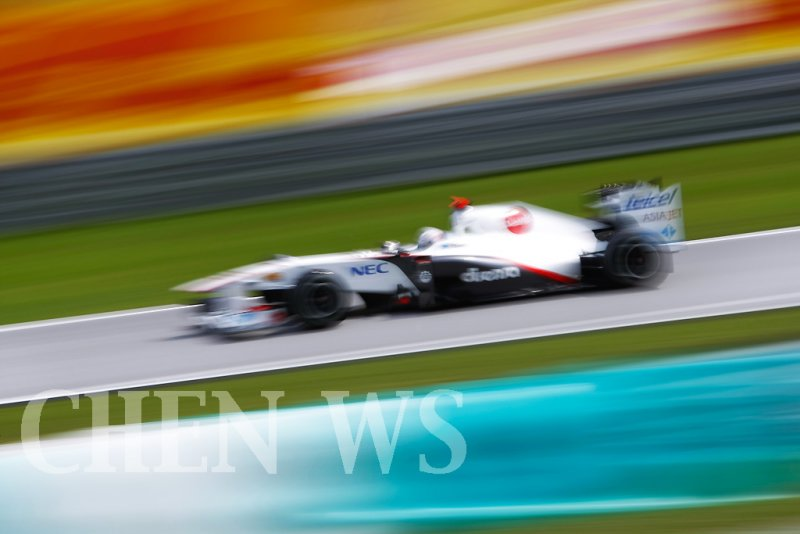 Sauber F1s Kamui Kobayashi