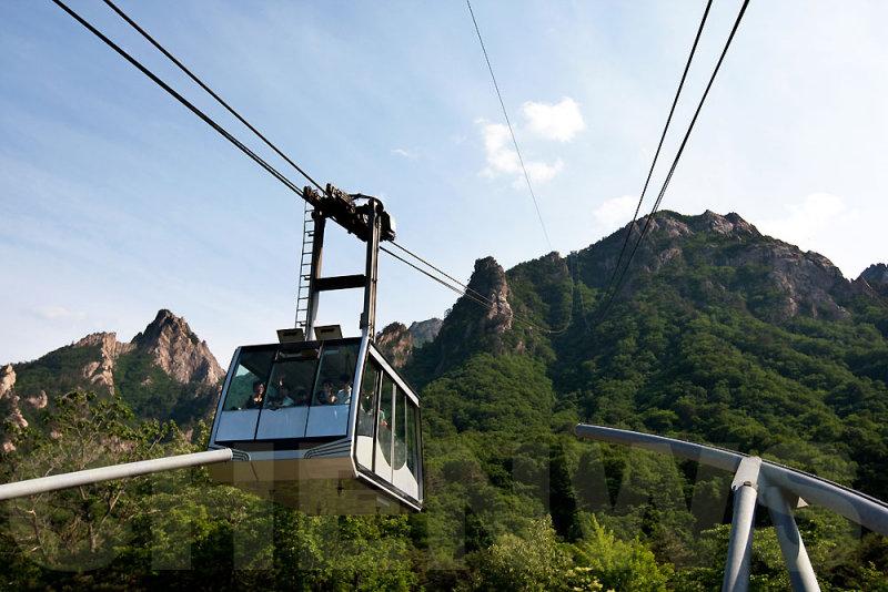 Cable car to Mt Seorak