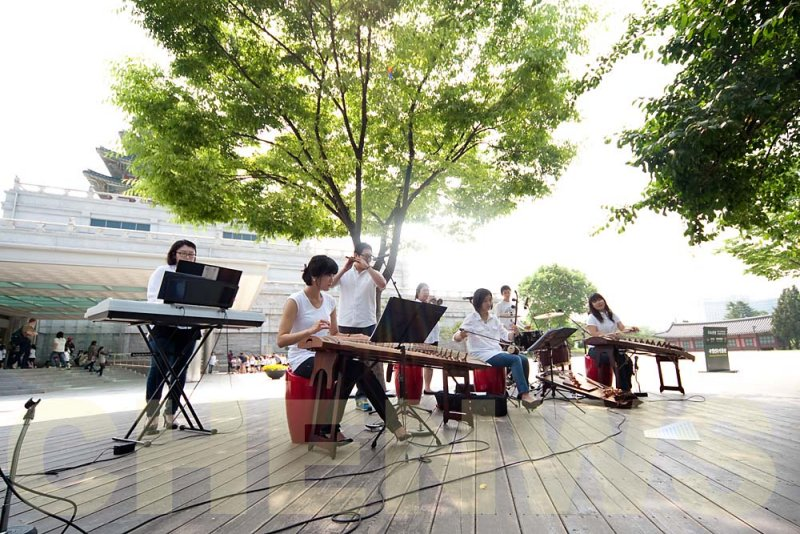 Traditional Korean orchestra