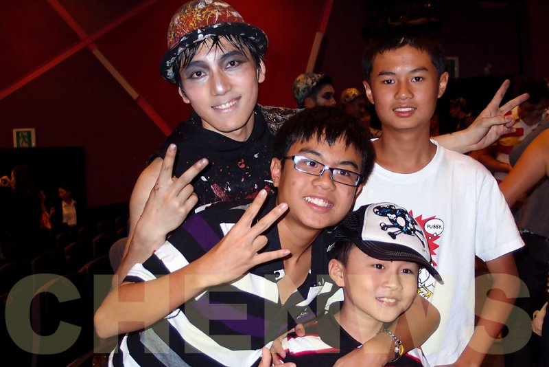 Hero artist with fans